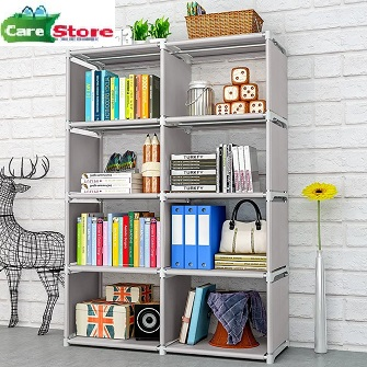 Portable bookshelf folding racks